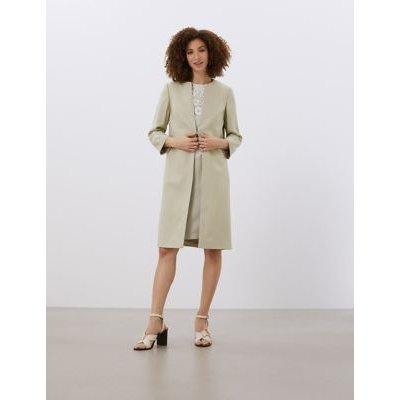 M&S Jaeger Womens A-Line Dress Coat - 16 - Stone, Stone
