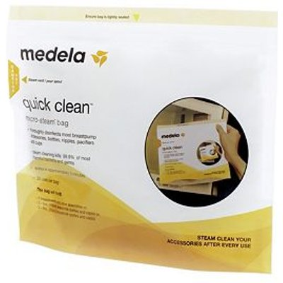 Medela Quick Clean Micro Steam Bags Five Pack - 0020451870243