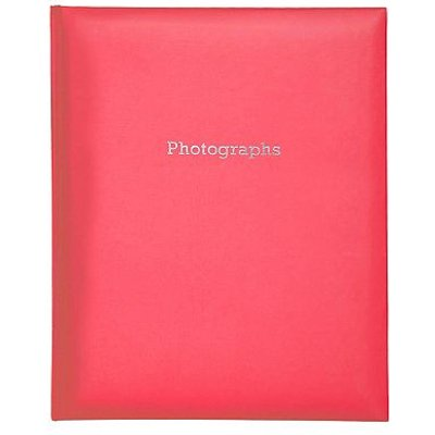 Boots Red Self Adhesive Photo Album 6x4  200 Photos 5052282043812