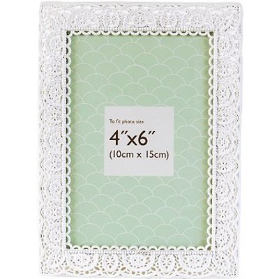 5052282048251 | Innova Editions White Laser Cut Photo Frame  6 x 4