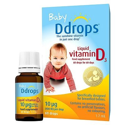 Baby Ddrops Liquid Vitamin D3 10 g 60 Drops 1.7ml