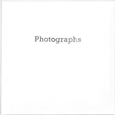 5052282078609   White Memo Style Photo Album with Silver Photographs Print   6x4