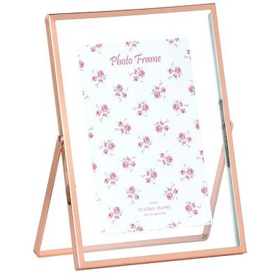 5052282078708 | Rose Gold Colour Easel Photo Frame   6x4