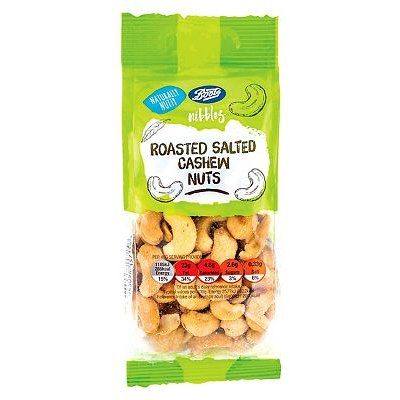 Boots Nibbles Roasted Salted Cashew Nuts 150g - 5045098157156