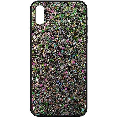 5060579590451 | The Glitter Collective iPhone X case stars dots and glitter