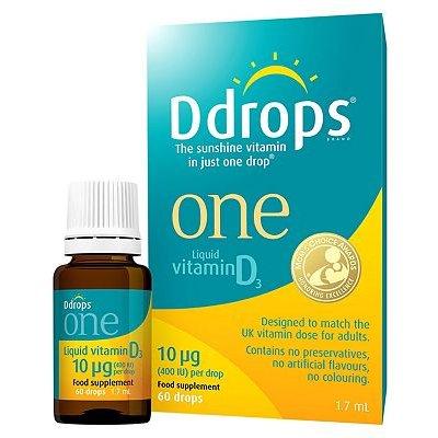 Ddrops One Liquid Vitamin D3 10g - 60 drops