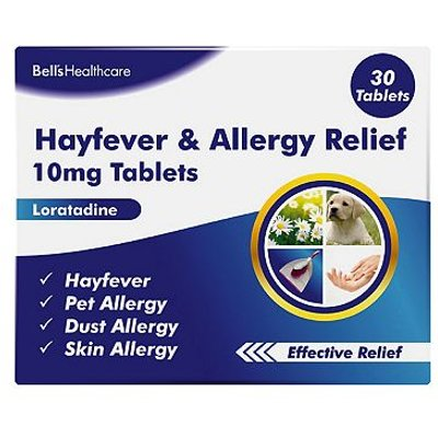Bells Hayfever and Allergy Relief 10mg Tablets - 30 Tablets
