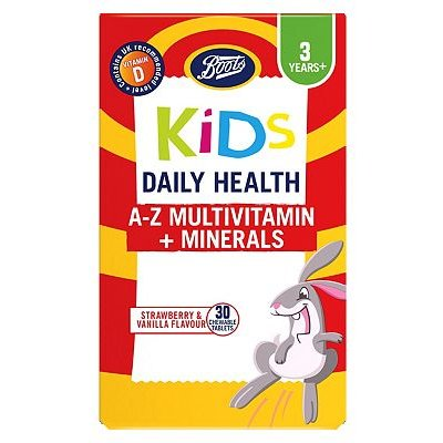 Boots Kids Daily Health A-Z Multivitamin + Minerals - 30 Chewable Tablets
