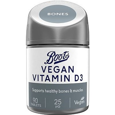 Boots Vegan Vitamin D3 25g - 90 tablets - 3 months supply