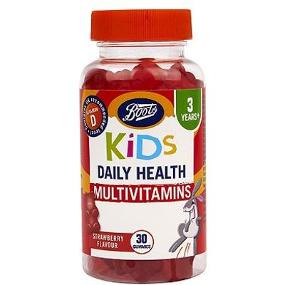 Boots Kids Daily Health Multivitamins Strawberry Flavour - 30 Gummies