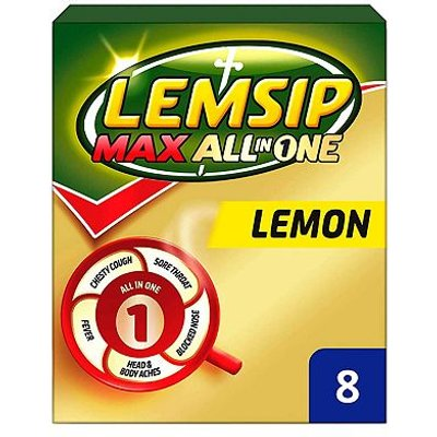 Lemsip Max All In One Lemon - 8 sachets