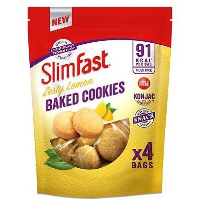 SlimFast Cookies Zesty Lemon Baked Cookies- 96g