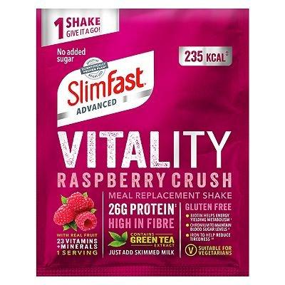 SlimFast Advanced Vitality Raspberry Crush - Single Serve Sachet 40g