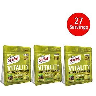 SlimFast Vegan Advanced Shake Intense Mint Chocolate - 400g x 3