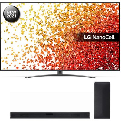 "65"" LG 65NANO916PA  Smart 4K Ultra HD HDR LED TV & Wireless Sound Bar Bundle"