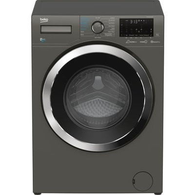 BEKO Ultrafast WDEX854044Q0G Bluetooth 8 kg Washer Dryer - Graphite, Graphite