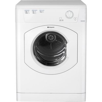 HOTPOINT Aquarius TVHM80CP Vented Tumble Dryer - White, White