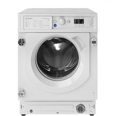 INDESIT BIWMIL91484 Integrated 9 kg 1400 Spin Washing Machine, Blue
