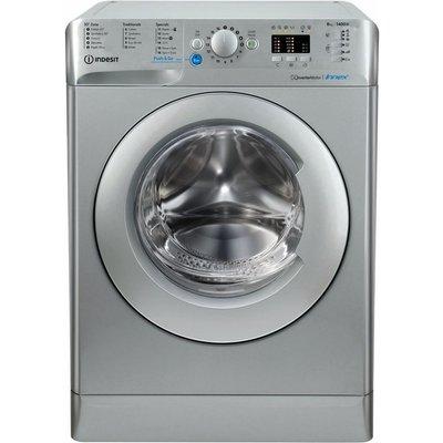 INDESIT Innex BWA 81483X S UK N 8 kg 1400 Spin Washing Machine - Silver, Silver