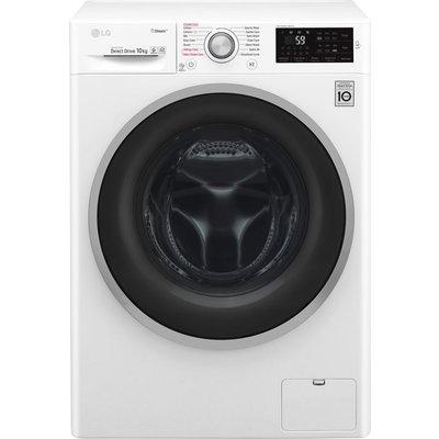LG F4J610WS NFC 10 kg 1400 Spin Washing Machine - White, White