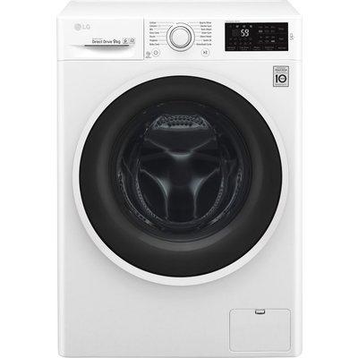 LG F4J609WN NFC 9 kg 1400 Spin Washing Machine - White, White