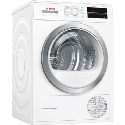 Bosch Tumble Dryer Serie 6 WTW85480GB 8 kg Heat Pump  - White, White