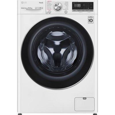 LG TurboWash 360 with AI DD V9 F4V910WTSE WiFi-enabled 10.5 kg 1400 Spin Washing Machine - White, White