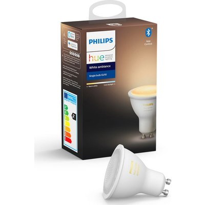 PHILIPS Hue White Ambience Bluetooth LED Bulb - GU10, White