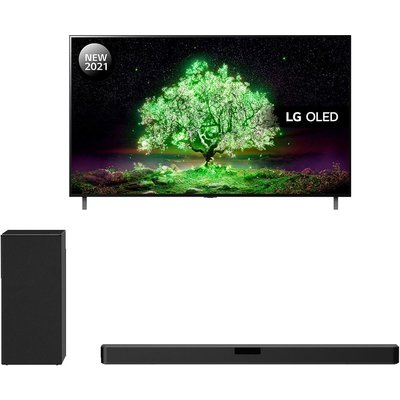 "77"" LG OLED77A16LA  Smart 4K Ultra HD HDR OLED TV & Wireless Sound Bar Bundle"