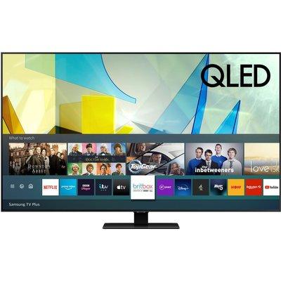 """55"""" SAMSUNG QE55Q80TATXXU  Smart 4K Ultra HD HDR QLED TV with Bixby, Alexa & Google Assistant"""