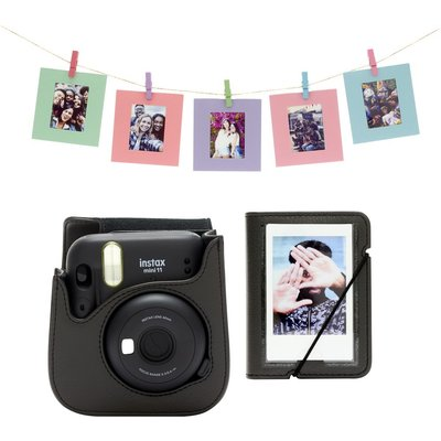 INSTAX Mini 11 Accessory Kit   Charcoal Grey  Charcoal - 8720094750712