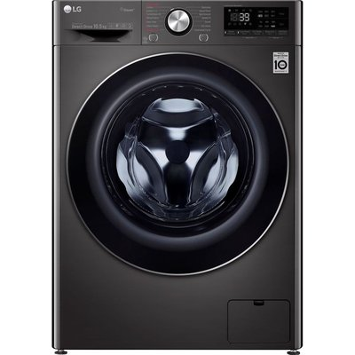 LG Vivace F4V910BTS WiFi-enabled 10.5 kg 1400 Spin Washing Machine - Black, Black