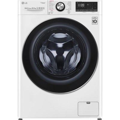LG TurboWash 360 with AI DD V9 F4V910WTS WiFi-enabled 10.5 kg 1400 Spin Washing Machine - White, White