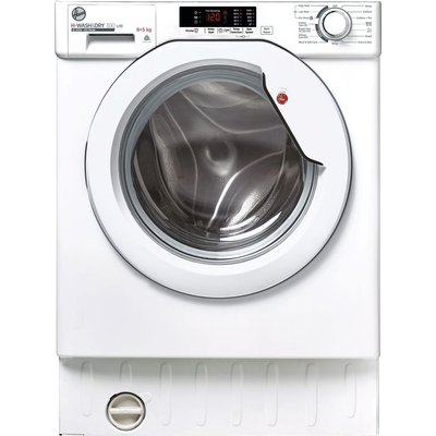 HOOVER H-Wash 300 HBD 485D2E Integrated 8 kg Washer Dryer - White, White