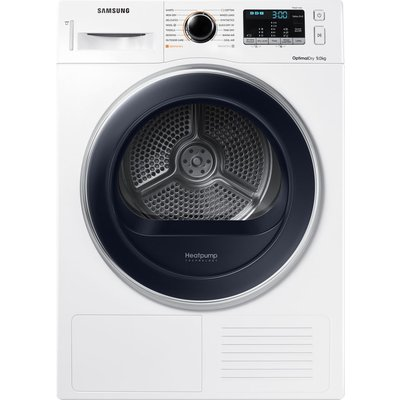 Samsung Tumble Dryer DV90M5000QW/EU 9 kg Heat Pump  - White, White