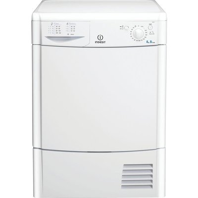 INDESIT Ecotime IDC8T3B Condenser Tumble Dryer – White, White