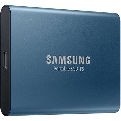 SAMSUNG T5 External SSD - 250 GB, Blue, Blue