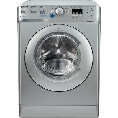 INDESIT Innex BWA 81483X S Washing Machine - Silver, Silver