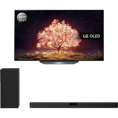 "77"" LG OLED77B16LA  Smart 4K Ultra HD HDR OLED TV & Wireless Sound Bar Bundle"