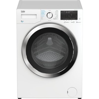 BEKO Ultrafast WDEX854044Q0W Bluetooth 8 kg Washer Dryer - White, White