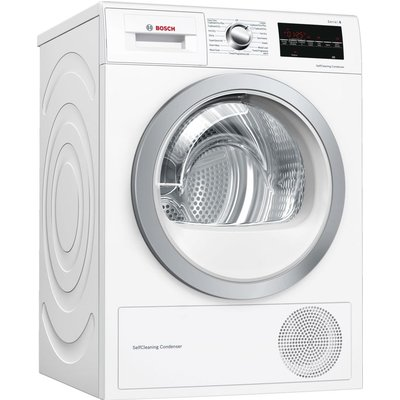 Serie 6 WTW85493GB 8 kg Heat Pump Tumble Dryer - White, White