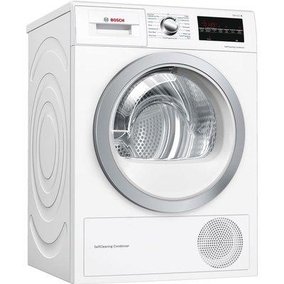 BOSCH Serie 6 WTW85493GB 8 kg Heat Pump Tumble Dryer - White, White