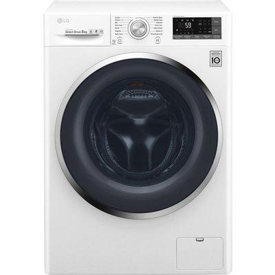 LG Titan FH4U2TDN2W 8 kg 1400 Spin Washing Machine - White, White