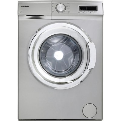 MONTPELLIER MW7140S 7 kg 1400 rpm Washing Machine - Silver, Silver