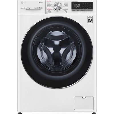 LG TurboWash with AI DD V7 F4V709WTSE WiFi-enabled 9 kg 1400 Spin Washing Machine - White, White