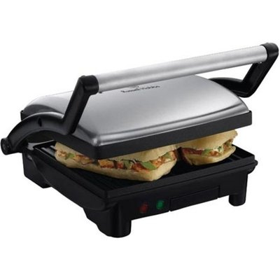 Russell Hobbs 17888 3 in 1 Panini Press  Griddle   Health Grill   Silver  Silver - 5038061033687