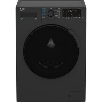 BEKO WDB7425R2A Bluetooth 7 kg Washer Dryer - Black, Black