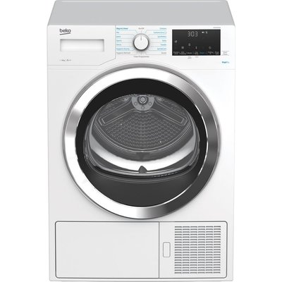 BEKO RapiDry DPHX80460W 8 kg Heat Pump Tumble Dryer - White, White