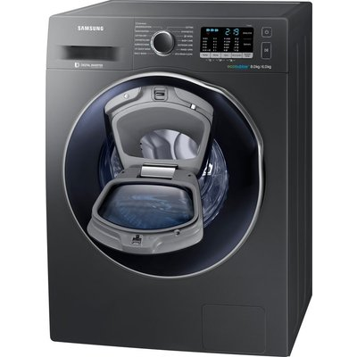 Samsung Washer Dryer ecobubble WD80K5B10OX 8 kg  - Graphite, Graphite