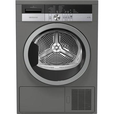 GRUNDIG GTN38250MGCG 8 kg Heat Pump Tumble Dryer - Graphite, Graphite
